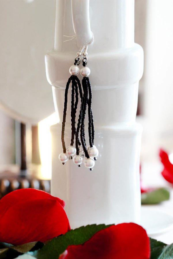 Long Pearl Drop Earrings For Sale