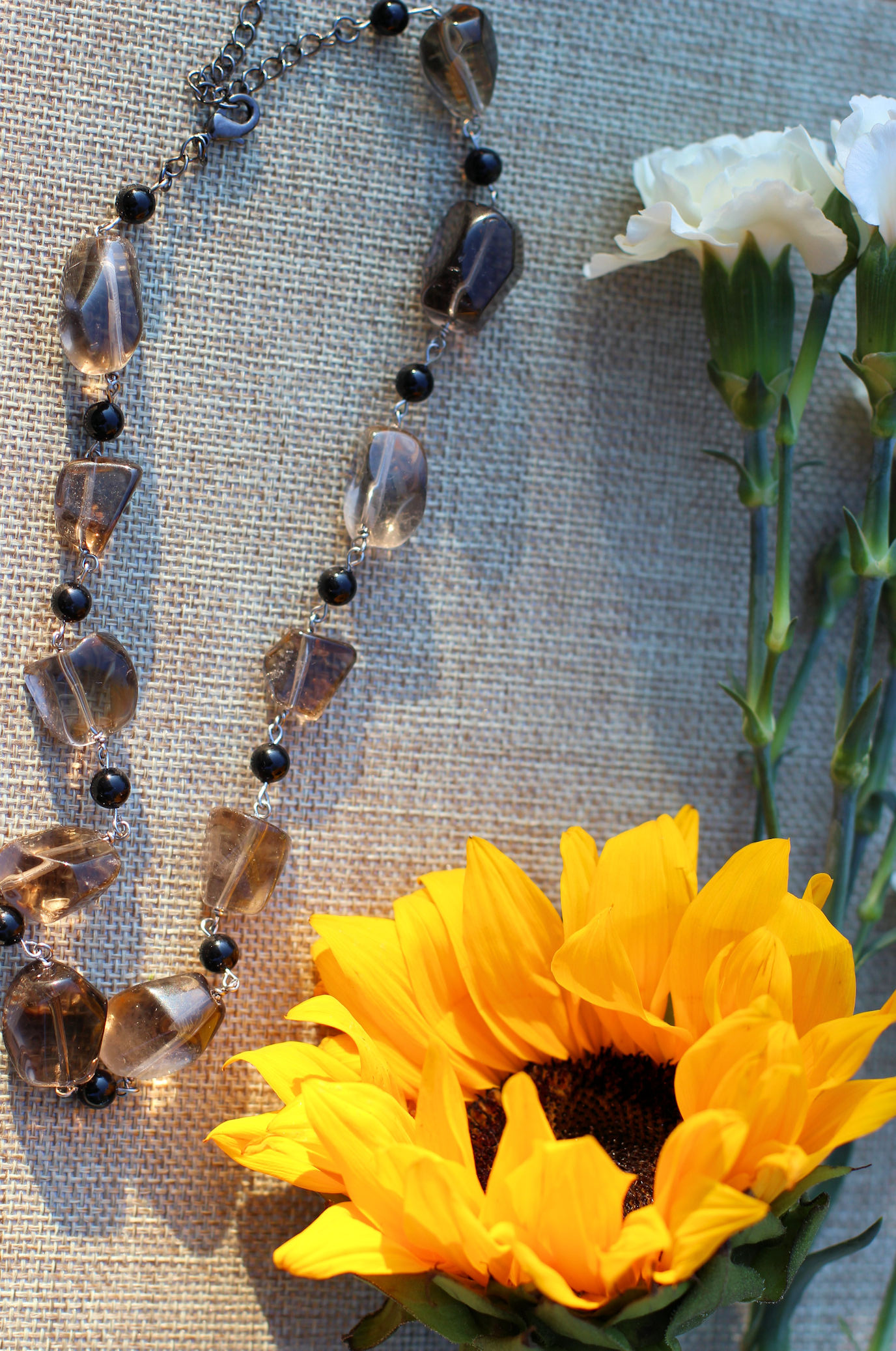 Smokey Quartz Necklace by Kaleidoscopes & Polka Dots