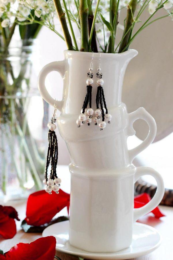 Tassel Pearl Costume Jewelry Shop