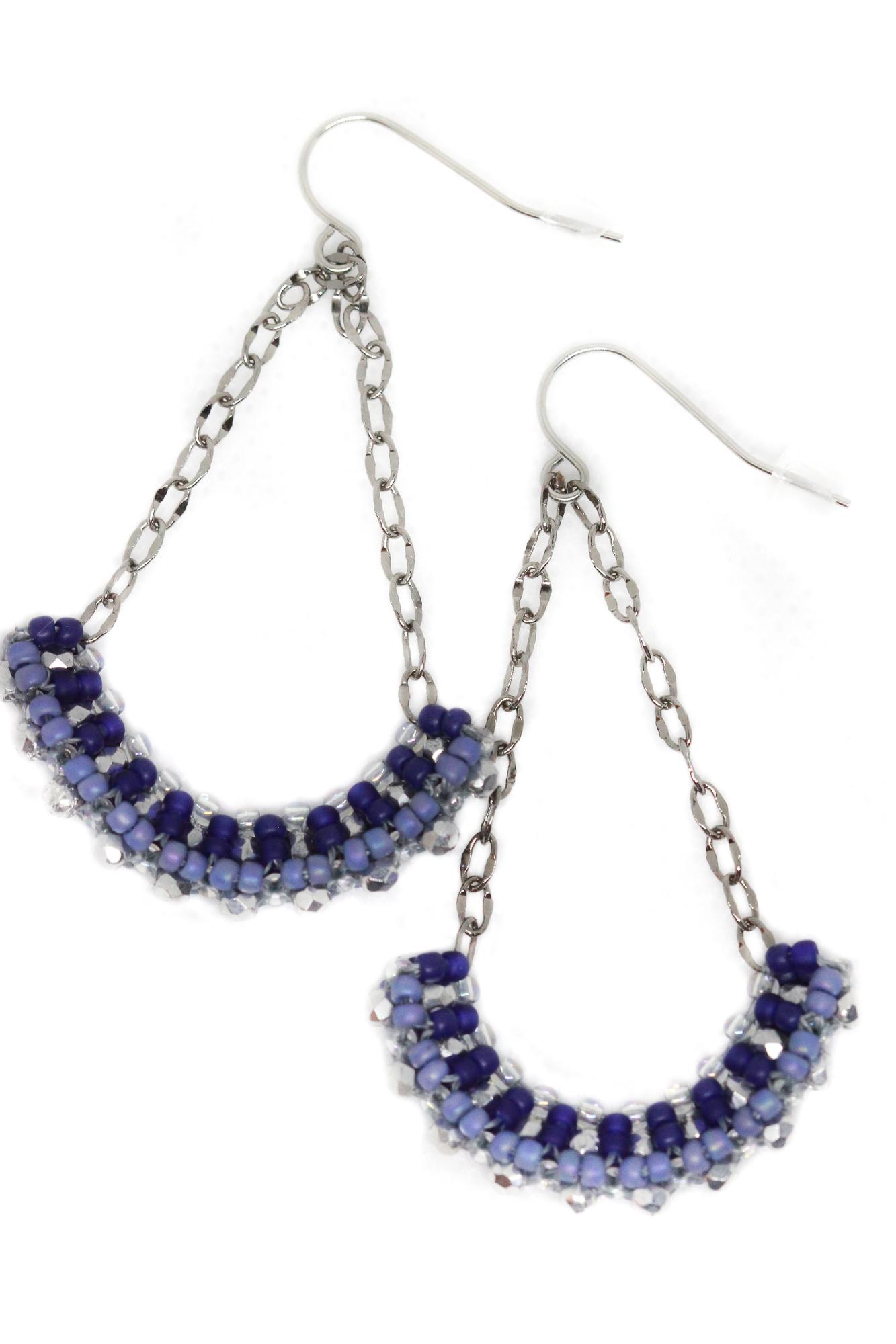 Louise Crystal Beaded Earrings