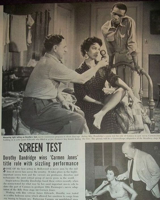 Dorothy Dandridge - CARMEN JONES - SCREEN TEST