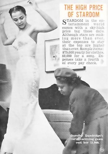 Dorothy Dandridge - The High Price Of Stardom Article - Getting Fitted