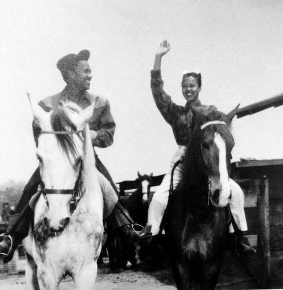 Dorothy & Harold Nicholas On Horseback