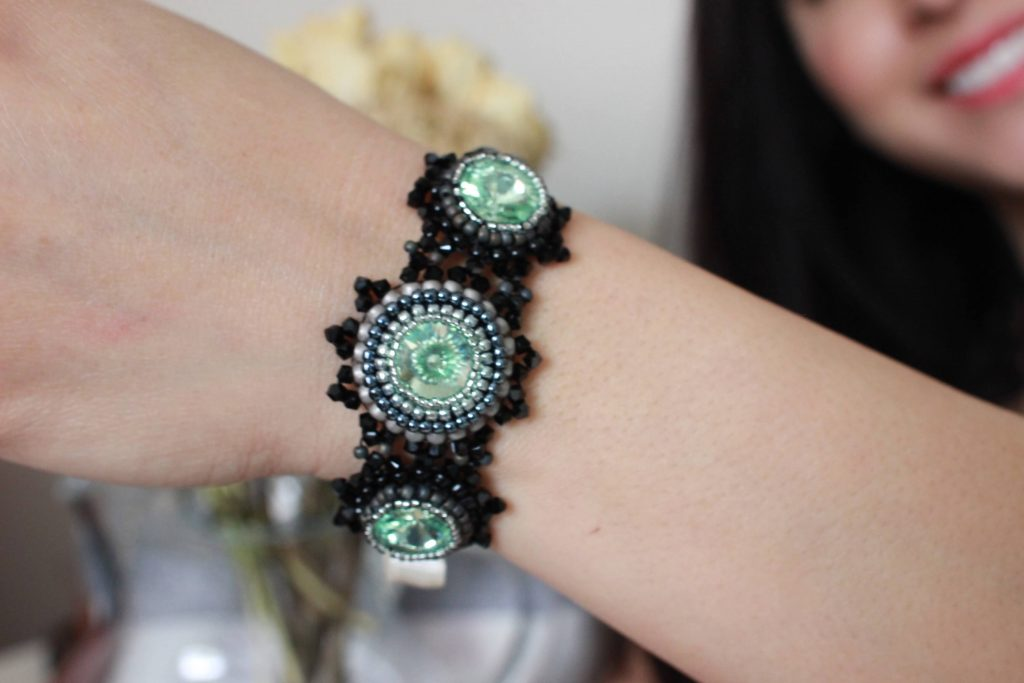 Handmade Vintage-Inspired Beaded Bracelet Dedicated To Dorothy Dandridge