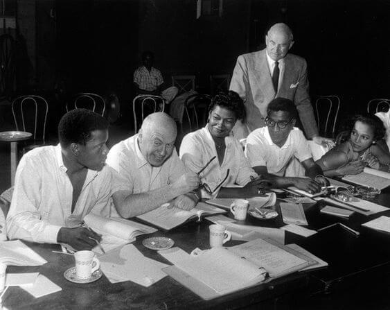Otto Preminger & Carmen Jones Cast