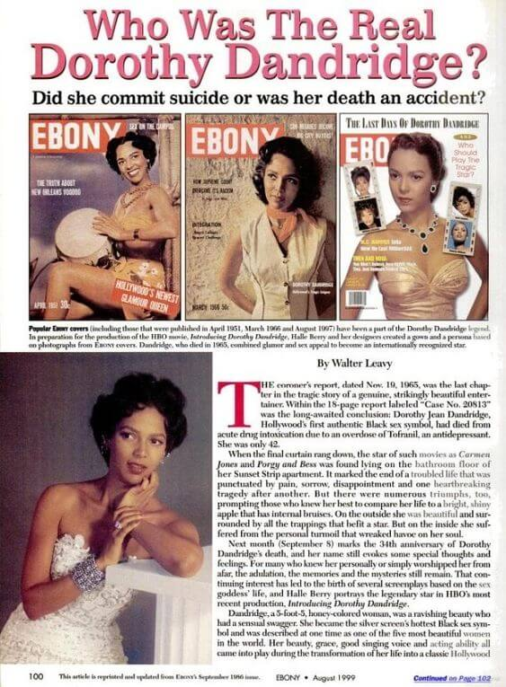 Who Was The Real Dorothy Dandridge - Ebony