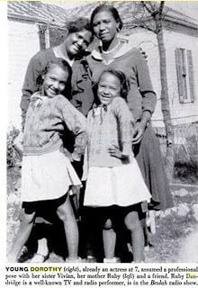 Young Dorothy Dandridge With Mom & Sister & Friend