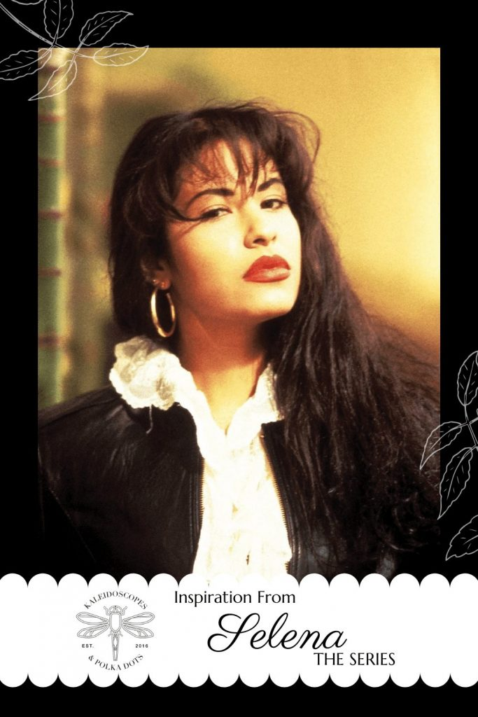 Selena, the Netflix Series, inspired me to: create a flower backdrop inspired by one of Selena's iconic photos; create one-of-a-kind heart earrings inspired by a pair she wore to an awards ceremony; and of course, to research a bit more about the series. #selenaforever #selenatheseries #selenaquintanilla #selenanetflix #flowerbackdrop