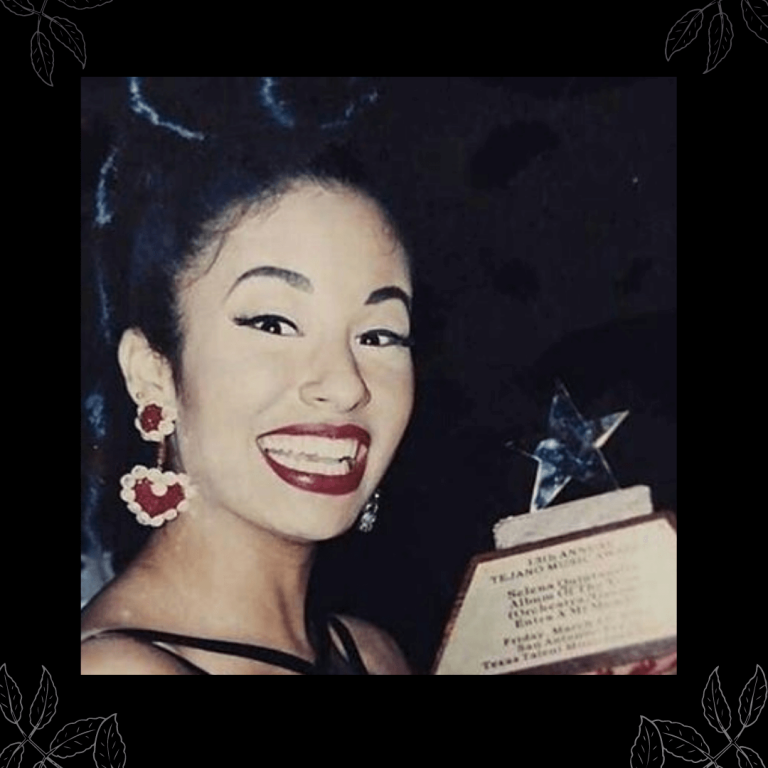 Selena Quintanilla's style was unmatched and original. She took inspiration from fashion trends of the time and made them her own - as I have done as well. Selena's heart dangle earrings in this photo inspired me to create my own. #vintageinspired #selenaquintanilla #selena #heartearrings #heartdangleearrings