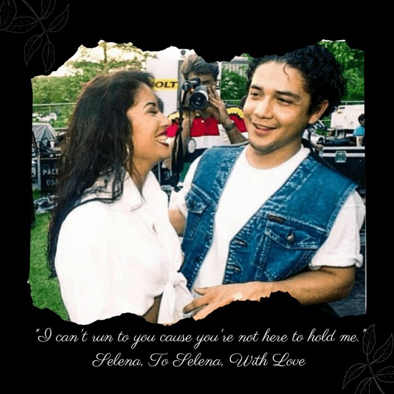 """I can't run to you cause you're not here to hold me."" Selena, To Selena With Love Quote From Selena #selenaquintanilla #chrisperez #selena #toselenawithlove"