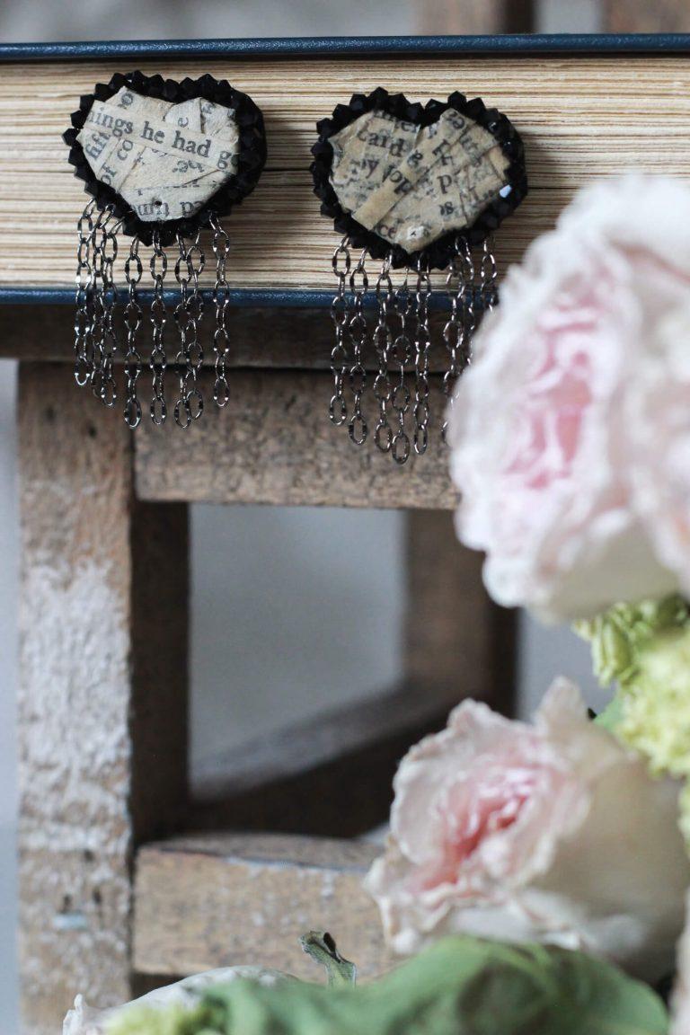 Paper Heart Jewelry #handmadejewelry #handmadeearrings #paperearrings #paperjewelry