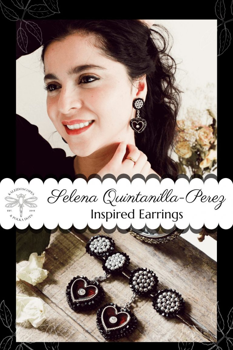 Selena Quintanilla had a taste for statement pieces. Her costumes were integral to her performances and confidence on stage. I have designed these statement heart earrings with her style in mind. #statementearrings #selenaquintanilla #heartdangleearrings #designerearrings #vintageinspiredjewelry #vintageinspired