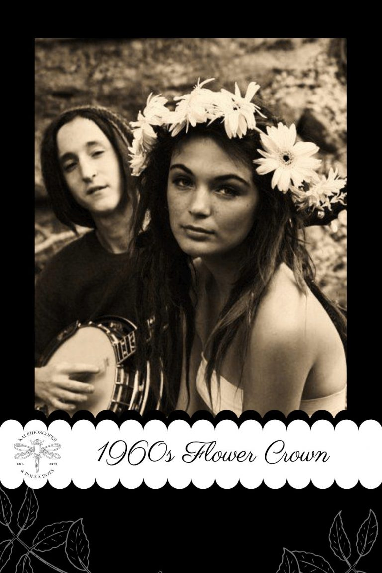 The 1960s flower child embraced the flower crown not only for it's beauty but as way of peacefully protesting the Vietnam War. #flowerchild #flowercrown #vietnamwar #peaceloveunity