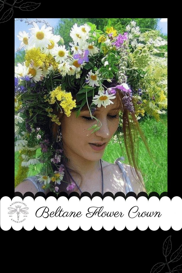 The beautiful Beltane flower crown is commonly used to celebrate the changing of the seasons with native flowers. #Beltane #flowercrown #paganholiday