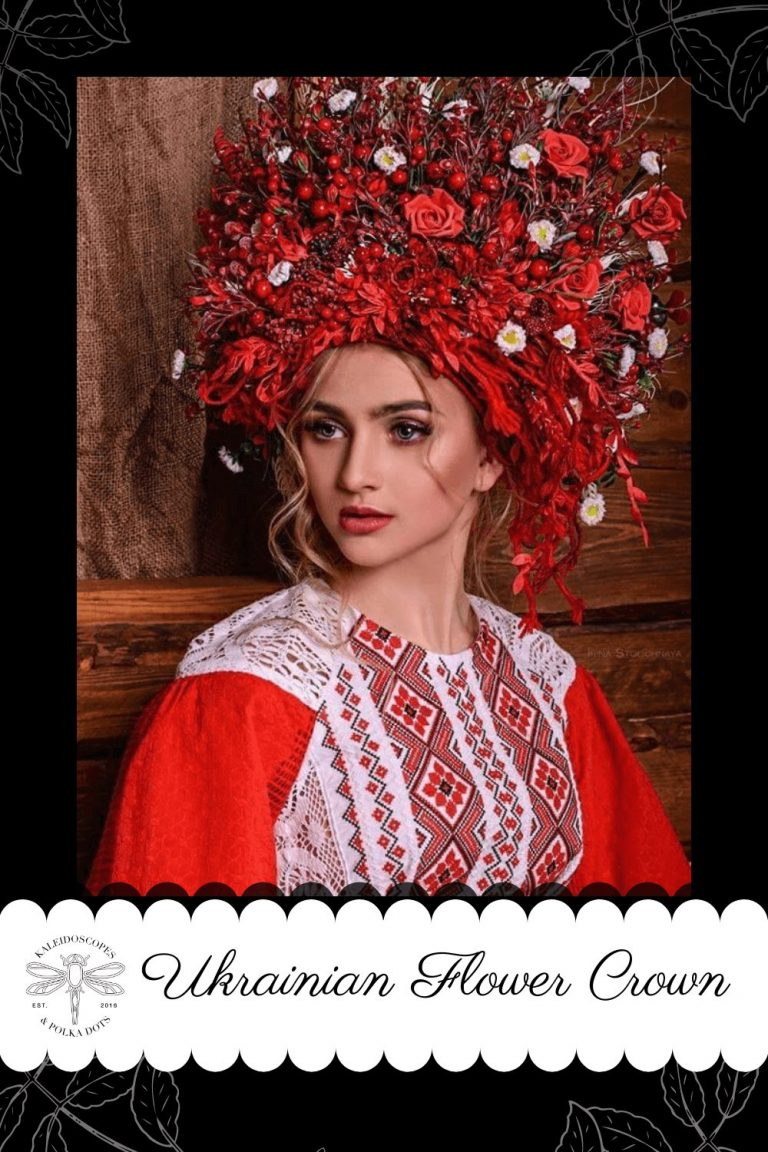 Also known as a vinok - a crown or wreath - the Ukrainian flower crown is used in wedding ceremonies as a symbol of purity and fertility. #ukrainianflowercrown #ukrainiantradition #flowercrown