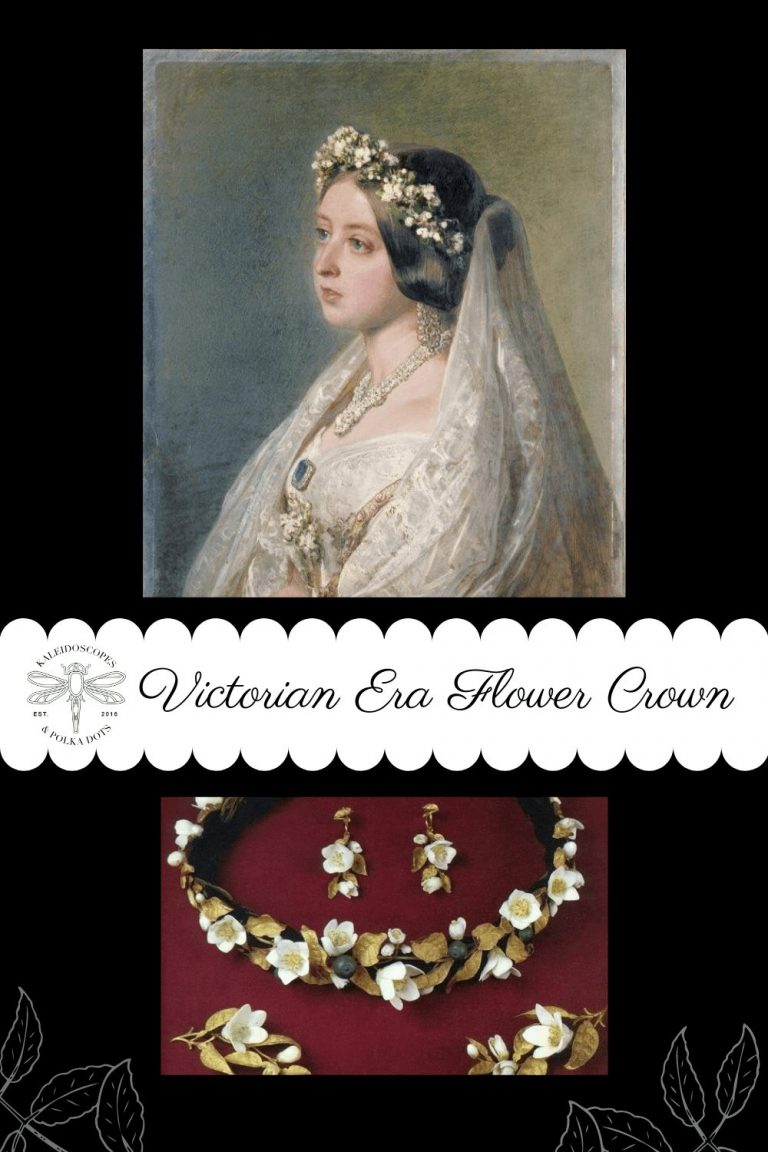 When Queen Victoria married Prince Albert she chose to wear a graceful flower crow made from orange blossoms which are said to be symbolic of purity and fertility. #flowercrown #VictorianEraFlowerCrown #QueenVictoria #orangeblossoms