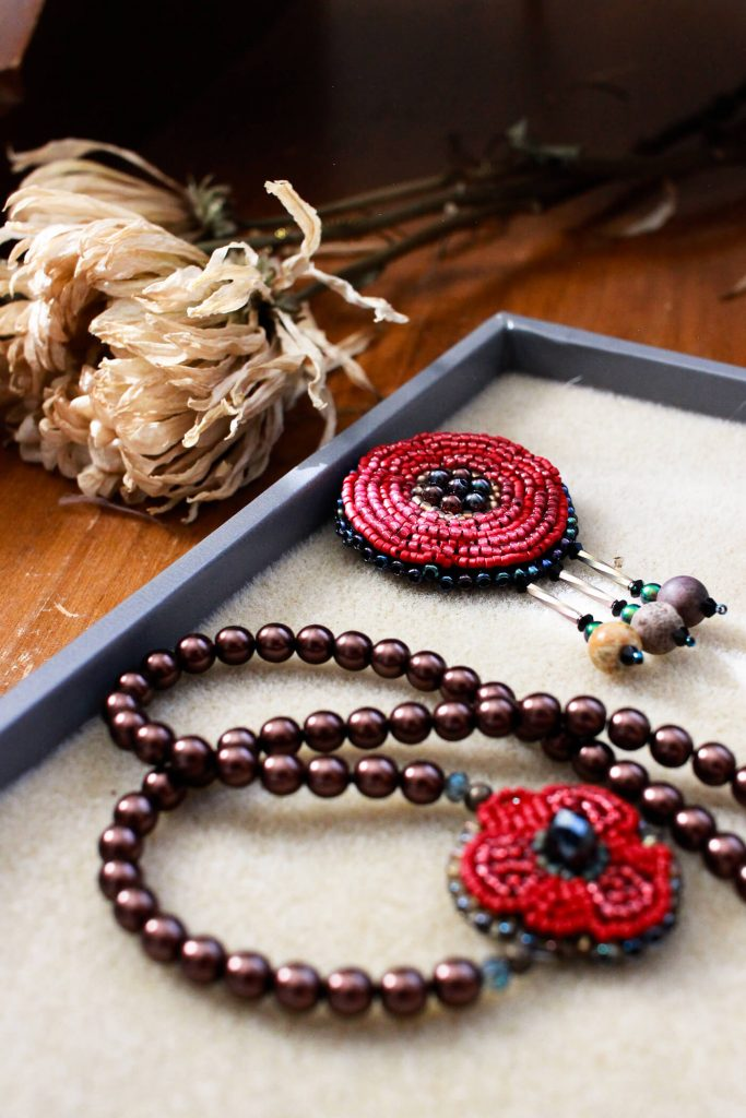 This set was part of the first set of designs of the Frida Kahlo inspired jewelry collection. Both are contenders for the final collection but will need a few changes. #handmadejewelry #fridakahloinspired #fridakahlojewelry #redrosejewelry #redrose