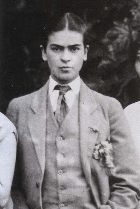 Frida Kahlo - 1926 Family Portrait - Wearing Men's Clothing