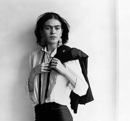 Young Frida Kahlo With Short Hair