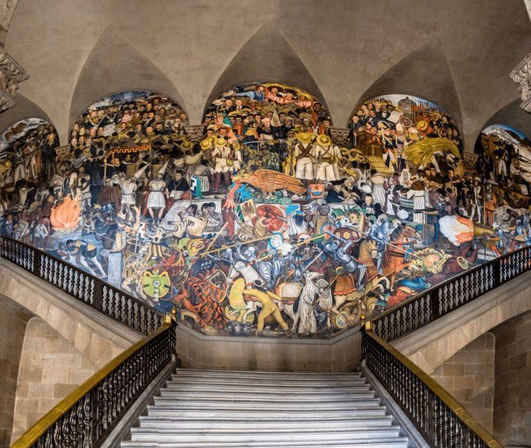 Mexican Mural – Diego Rivera – Palacio Nacional - EPOPEYA DEL PUEBLO MEXICANO