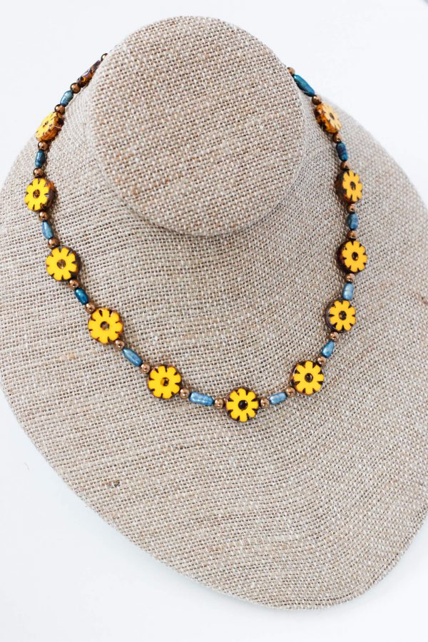 Boho Beaded Necklace - A Delightful Women's Choker Necklace by Kaleidoscopes And Polka Dots