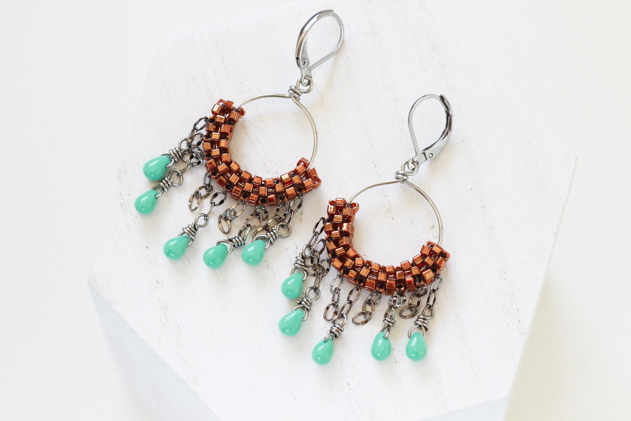 Copper Hoop Earrings – Hypoallergenic Earring Set by Kaleidoscopes And Polka Dots