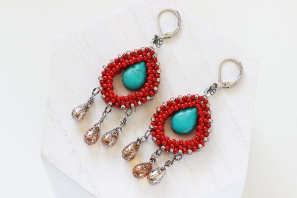 Frida Kahlo Inspired - Dia De Los Muertos Jewelry by Kaleidoscopes And Polka Dots