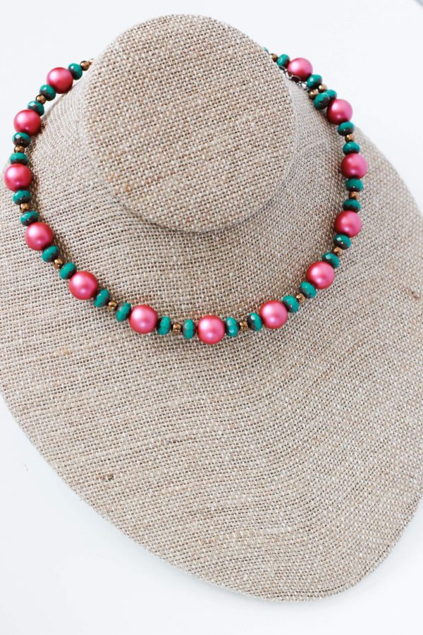 Hot Pink Necklace - Bold Jewelry by Kaleidoscopes And Polka Dots
