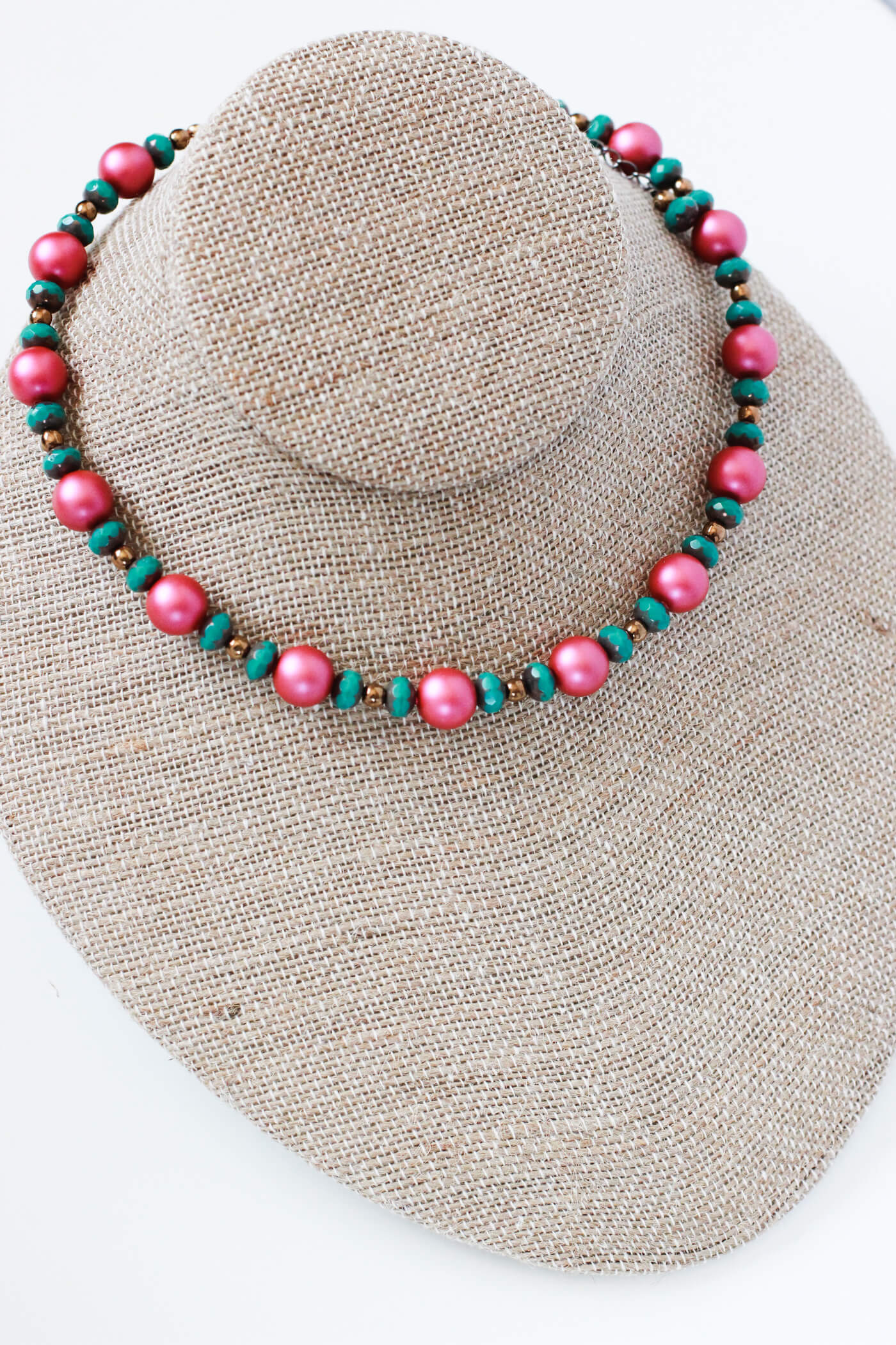 Hot Pink Necklace – Bold Jewelry by Kaleidoscopes And Polka Dots