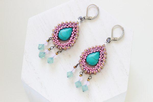 Mexican Style Earrings - Dia De Los Muertos Earrings by Kaleidoscopes And Polka Dots