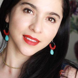 Dangle Earrings & Boho Beaded Necklace by Kaleidoscopes And Polka Dots