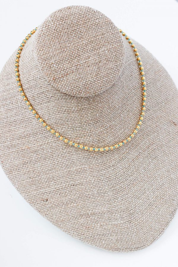 Women's Choker Necklace - Beaded Choker Necklace by Kaleidoscopes And Polka Dots