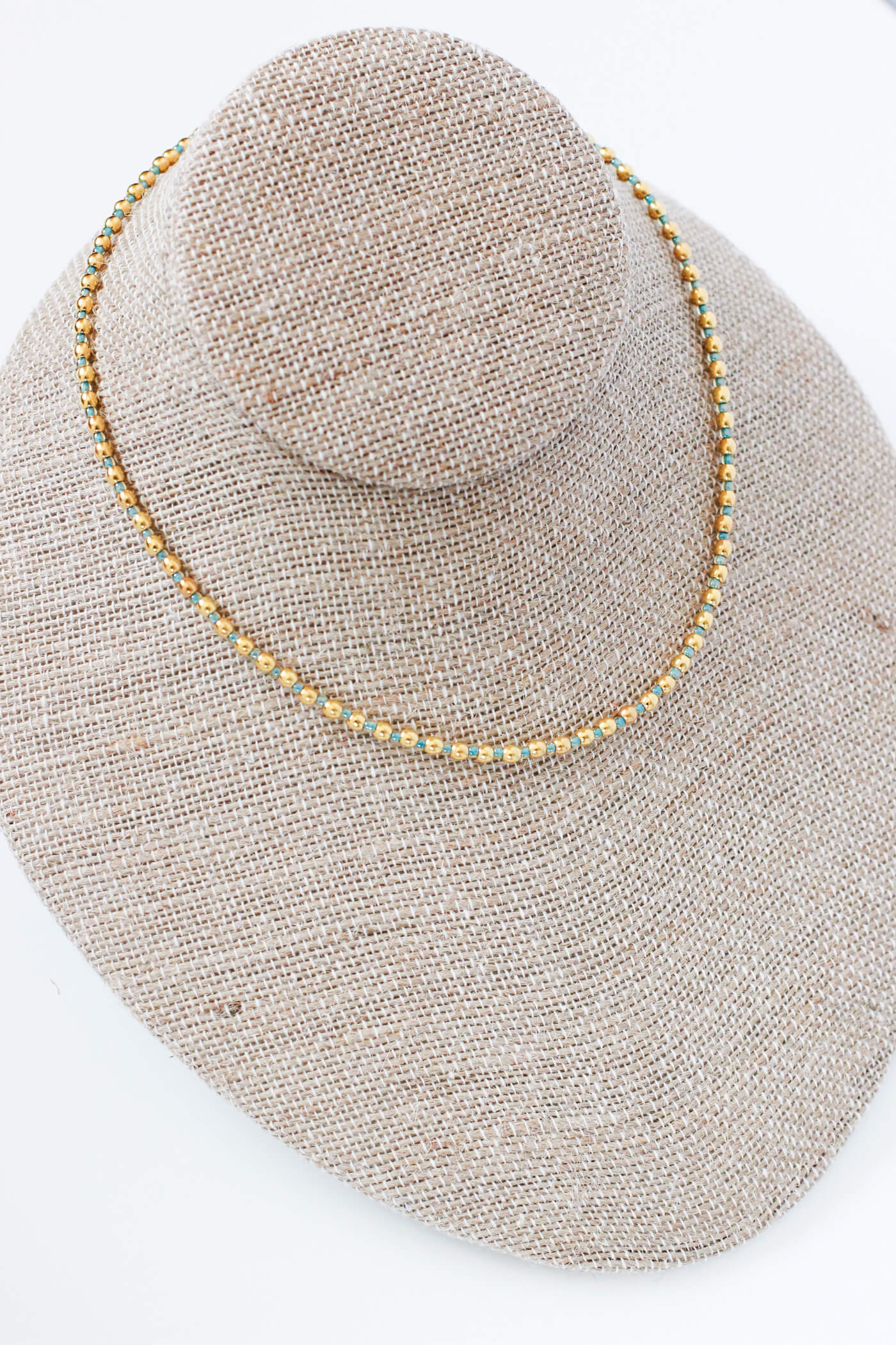 Women's Choker Necklace – Beaded Choker Necklace by Kaleidoscopes And Polka Dots